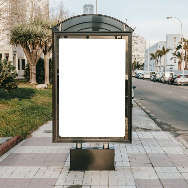 Download Empty Blank Stand On Bus Stop For Free Con Imagenes