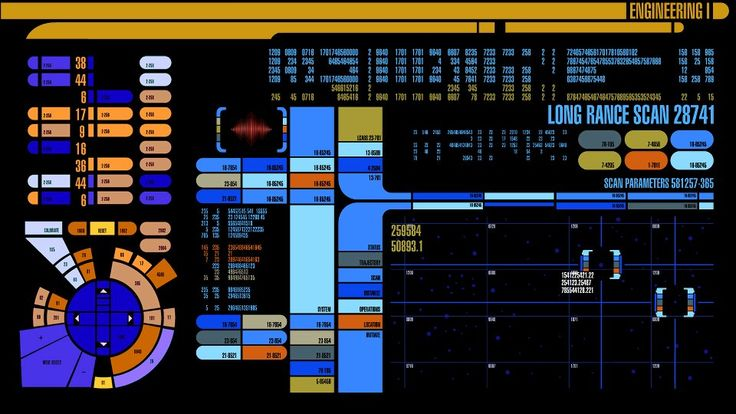 Star Trek Lcars Graphic Interface Designed By Scenic Art