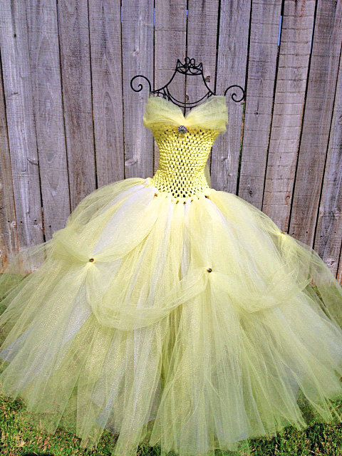 Hey, I found this really awesome Etsy listing at https://www.etsy.com/listing/191368638/belle-halloween-disney-inspired-tutu