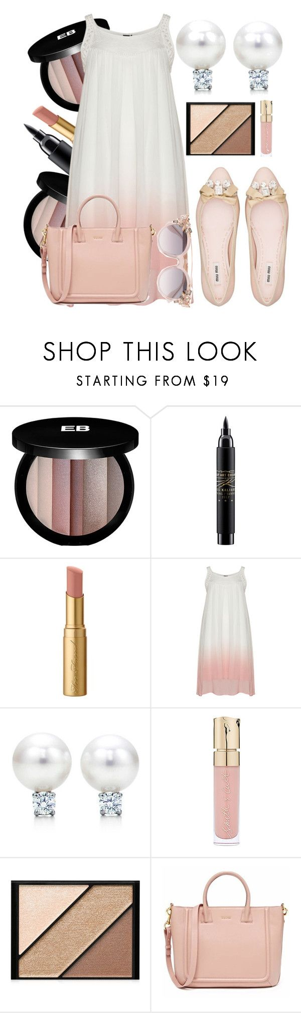 """""""Pregnant ❤"""" by luablackoficial ❤ liked on Polyvore featuring Edward Bess, MAC Cosmetics, Too Faced Cosmetics, Miu Miu, Smith & Cult, Elizabeth Arden and Jimmy Choo"""