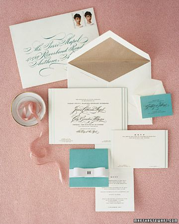 Martha Stewart on how to address and mail your invitations. Use it as a guide, not a proclamation!