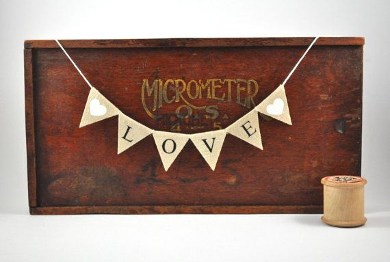 LOVE Cake Topper  Traditional Bunting Banner by collectingfeathers, $17.00