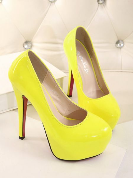 1000  ideas about Yellow High Heels on Pinterest  High heels