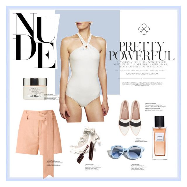 """""""PELSO // NUDE"""" by pelso on Polyvore featuring Giuliana Romanno, Kate Spade, Yves Saint Laurent, Kat Burki, Pinko and Whiteley"""