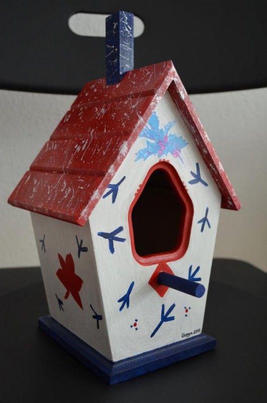 Kuş evleri özeldir! Ahşap boyama kuş evi modeli – 10marifet.org