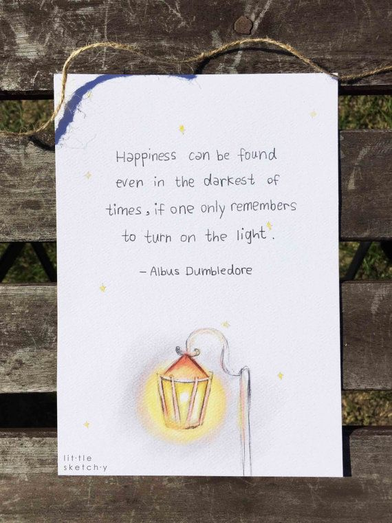 Harry Potter. Albus Dumbledore quote. by littlesketchyaus on Etsy