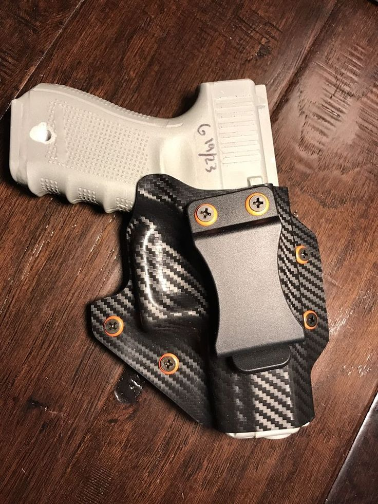 Carbon Fiber Black  And Orange CCW Holster Glock G19 G17 G22  IWB Appendix  | eBay