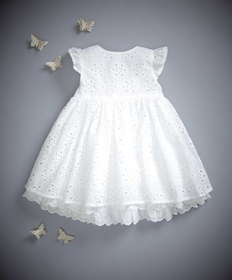 Broderie Anglaise Dress - for sweet baby girl
