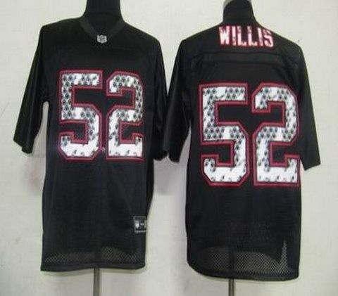 San Francisco 49ers 52 Patrick Willis Black United Sideline Jerseys