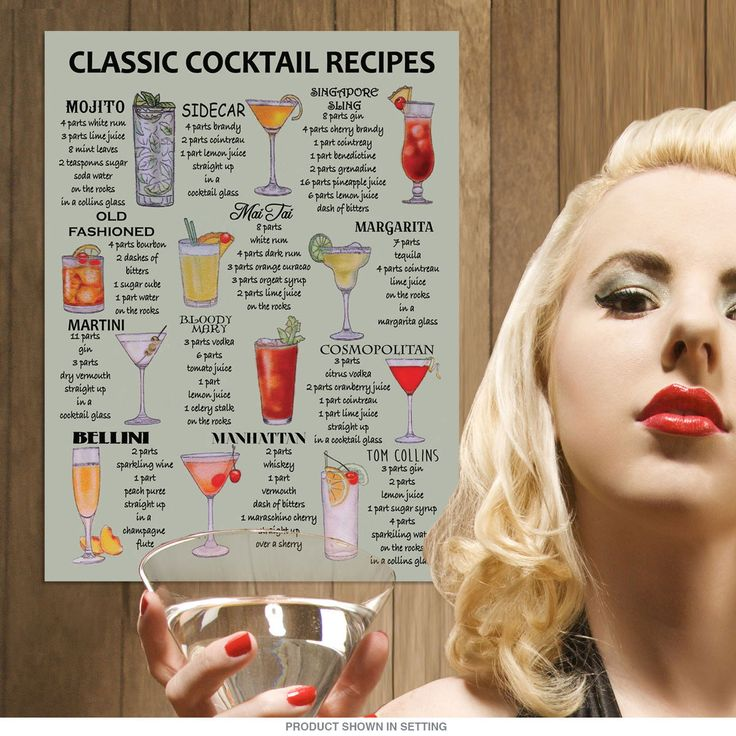 Vintage style bar metal sign featuring a chart of helpful cocktail recipes. This bartender wall decor looks great in any retro kitchen, bar or man cave, and is pre-drilled for easy hanging. Measures 12