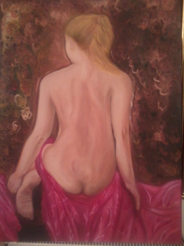 Female nude. Oil on canvas by Litsa Raftopoulou