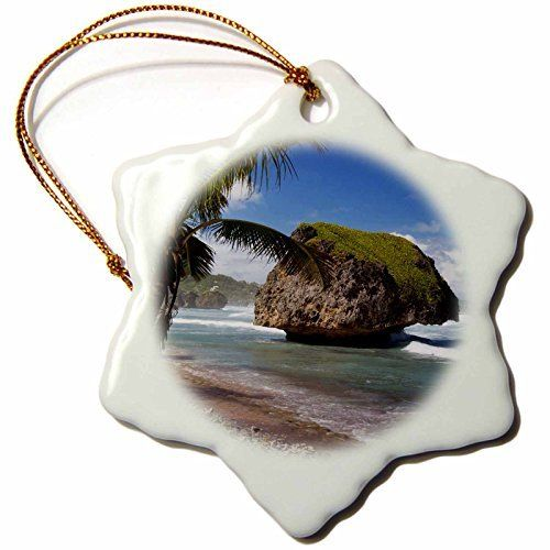 Bring back memories of Barbados with this lovely ceramic ornament featuring a scene of beautiful Bathsheba.