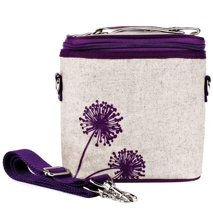 Purple Dandelion Small Cooler Bag