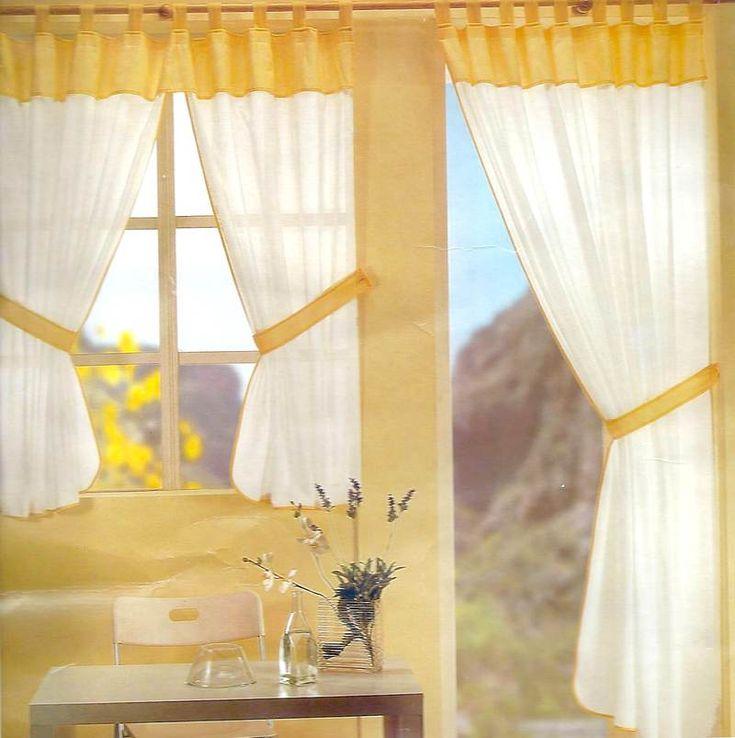 76 best Cortinas images on Pinterest Canvas curtains, Cookies - gardinen für küche