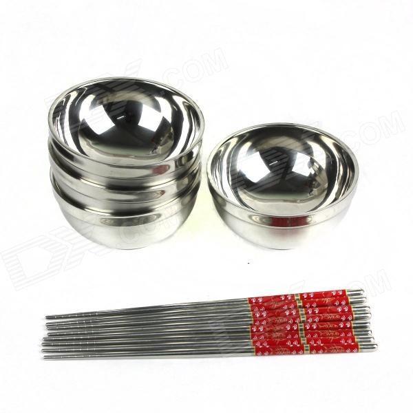 Single bowl size 11 x 11 x 6cm, the capacity of 250mL, length of chopsticks is 23cm http://j.mp/1ljDhNs