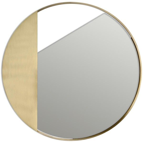 Edizione Limitata Revolution Brass Wall Mirrors - RV1_BS_M (1,360 CAD) ❤ liked on Polyvore featuring home, home decor, mirrors, gold, wall mounted mirror, polished brass mirror, hanging wall mirror, home wall decor and brass mirror