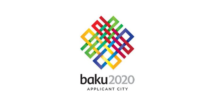 "Logo for the 2016 Olympics bid by Baku, Azerbaijan. A beautifully inspired Azerbaijani carpet mark, it also subtly spells out Baku's ""dream date"" of 2020."