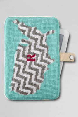 USA Map Needlepoint Kindle/Nook/iPad mini Case from Lands' End