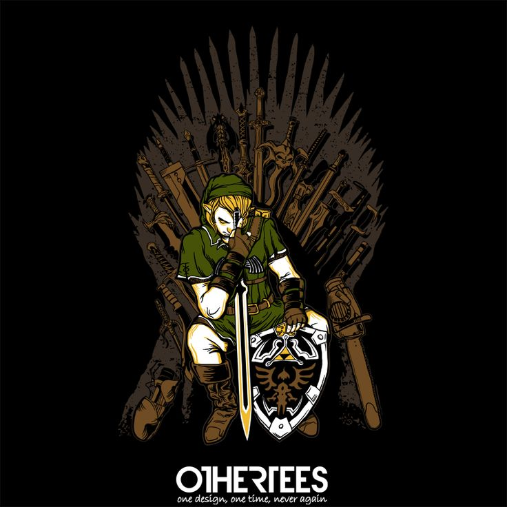 """Game of Blades"" by zerobriant Shirt on sale until 07 June on othertees.com Pin it for a chance at a FREE TEE! #gameofthrones #legendofzelda #loz"