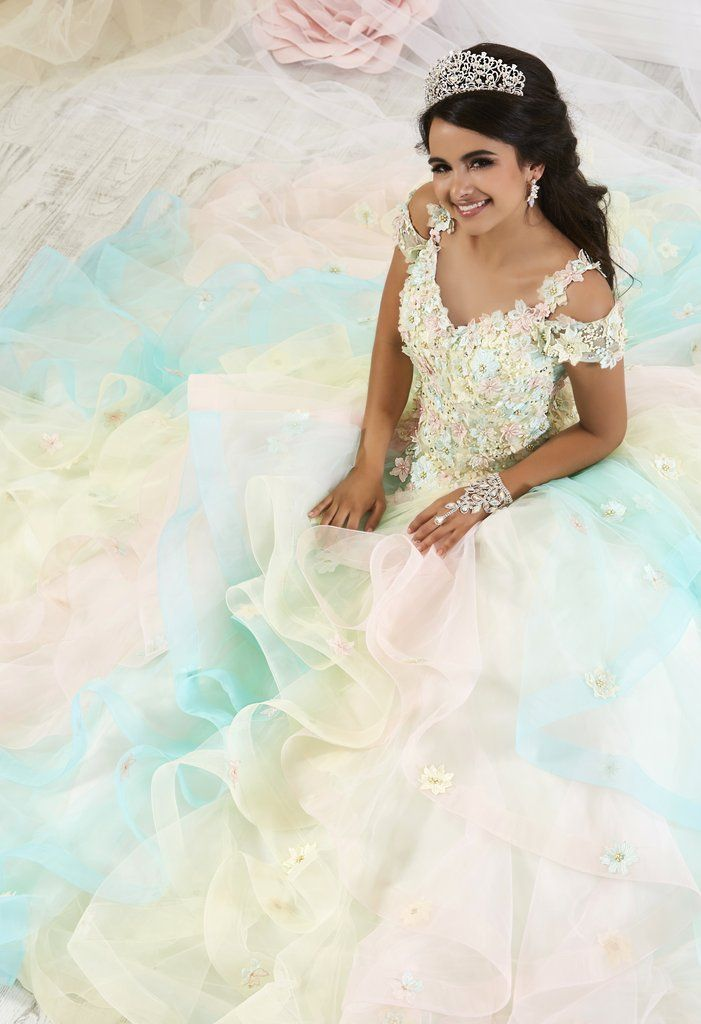 2c1bb85d1ab7 Floral Appliqued Pastel Quinceanera Dress by House of Wu 26905-House of Wu-ABC  Fashion