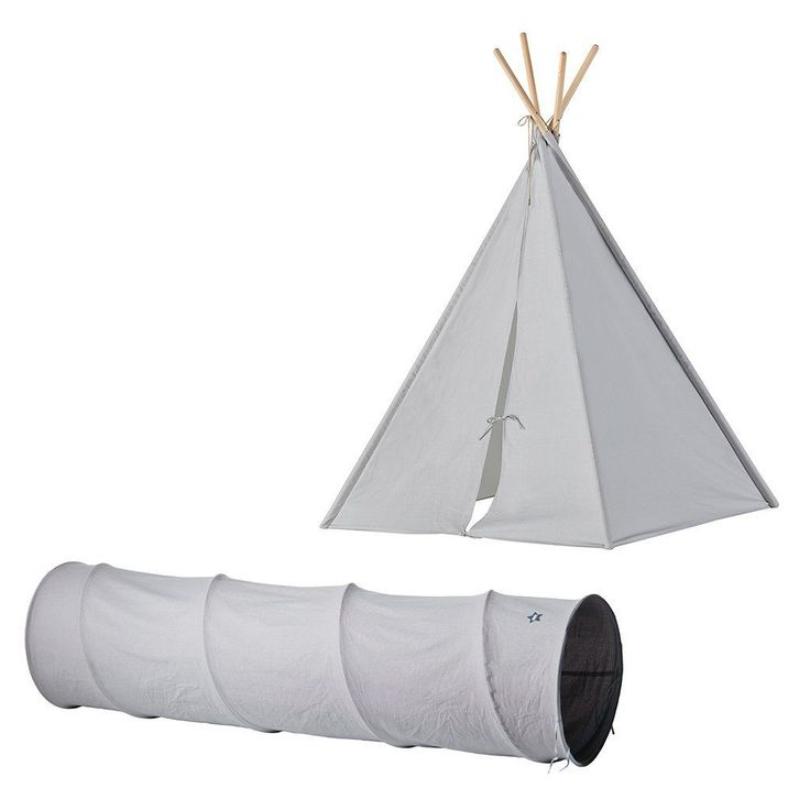 Grey Canvas Play Tunnel by Kids Concept