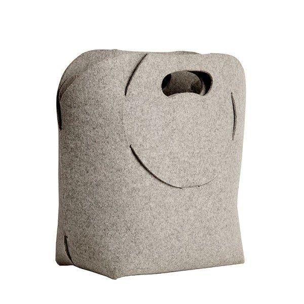 TEDDY felt basket - Boogie Design  TEDDY is a foldable bag/basket/newspaper rack made of natural woolen felt (100% wool).