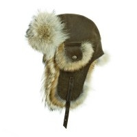 re-purposed leather and fur from Harricana