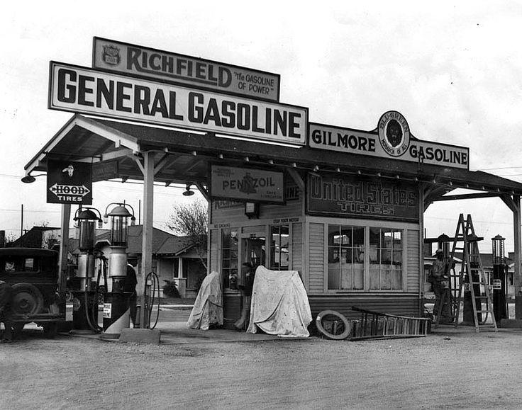 Gilmore General Gasoline, 4th and Western Avenue, Los Angeles, California, 1920's