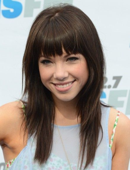 Carly Rae Jepsen,Blunt, Bangs Hairstyles for Straight Hair | Popular Haircuts