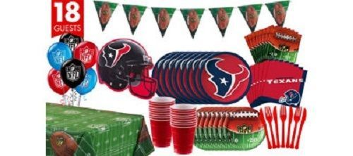 Houston Texans NFL Football Team Logo Superbowl Party Banners Plate Napkins Cups #HoustonTexans