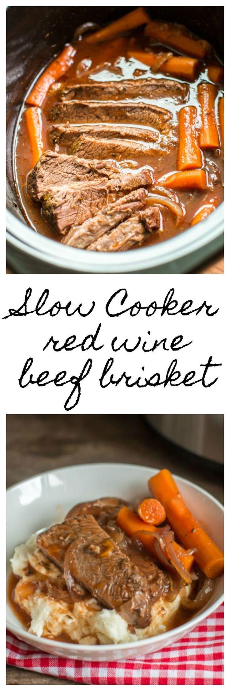 Slow Cooker Red Wine Beef Brisket