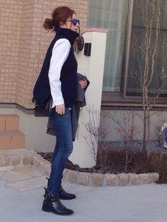 mayumiさんのニット/セーター「Deuxieme Classe ニット ベスト◆」を使ったコーディネート