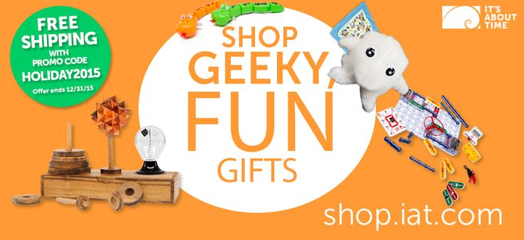You are invited to Super Luke's Holiday Party!! From now until December 31st, enjoy FREE SHIPPING on all of your STEM learning equipment and gift purchases for the classroom. Get a jump on 2016 STEM learning for your students! http://shop.iat.com