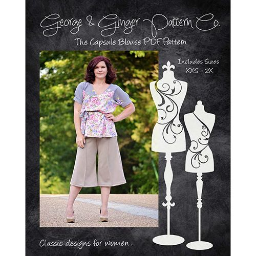 George & Ginger Capsule Blouse Sewing Pattern