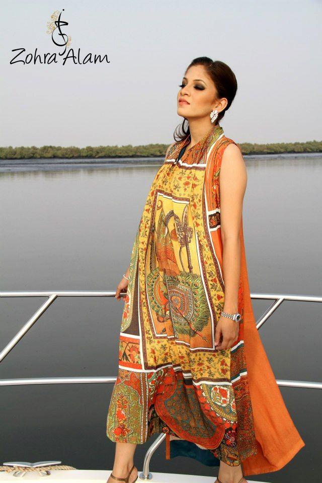 Amber Printed Silk Tunic