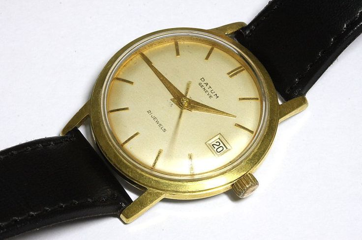 Datum Geneve 21 jewels ETA 2452 automatic Swiss watch