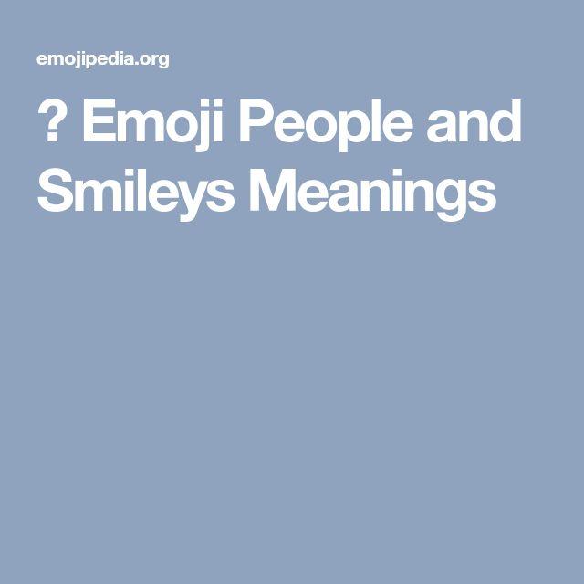 😃 Emoji People and Smileys Meanings