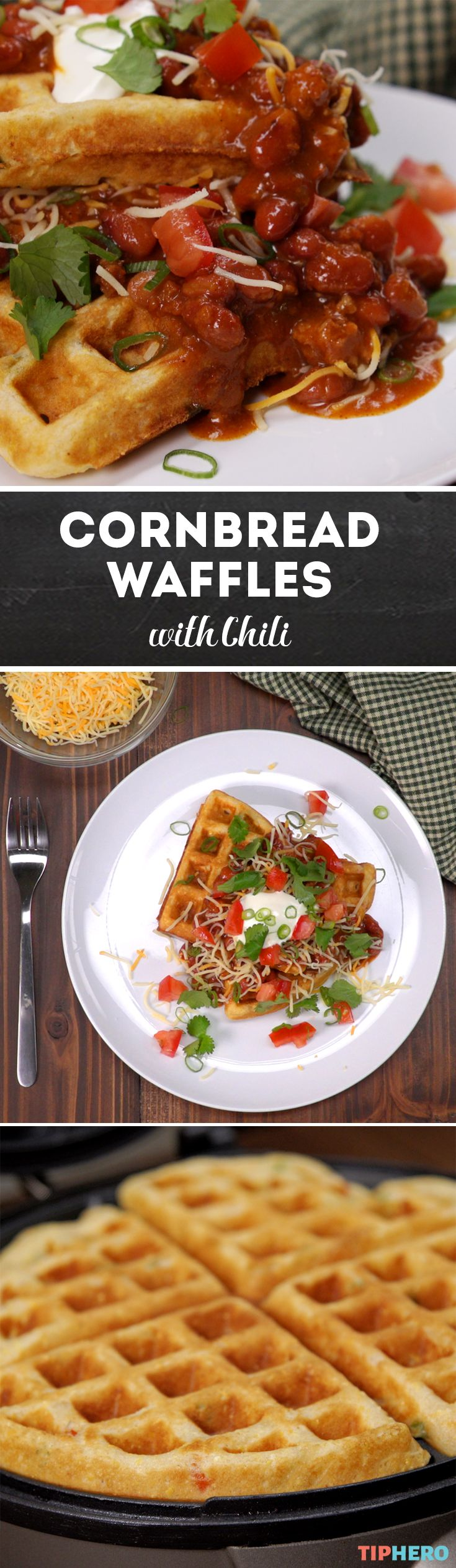 When you think Belgian-style waffles, sweet, light, and fluffy is probably the first thing you think of. But this cornbread waffle recipe will have you seeing waffles in a whole new light!  Instead of berries you'll be adding jalapeños and onions baked right into the batter and paring it with your favorite chili! Click for the recipe and give it a try!