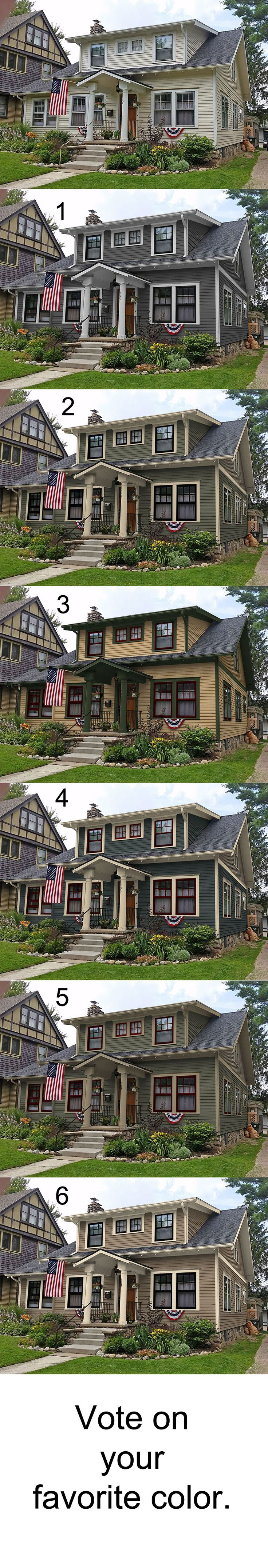 Portfolio Of Historic House Colors. Exterior Paint Colors For Old Homes  Showing Before And After Photos.