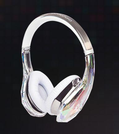 omfg i want this for my brthday Monster Beats Diamond Tears Edge Over-Ear Crystal Headphones