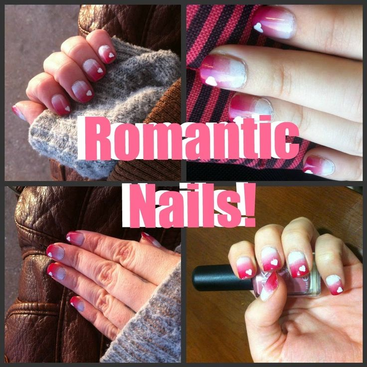 Super Cute (and SUPER EASY!) romantic nails