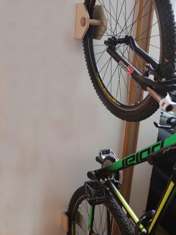 Bike Rack Wall Mount Wooden Bicycle Holder Bike Rack
