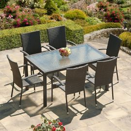 buy suntime lincoln grey rattan garden dining set from our metal garden furniture range at tesco direct