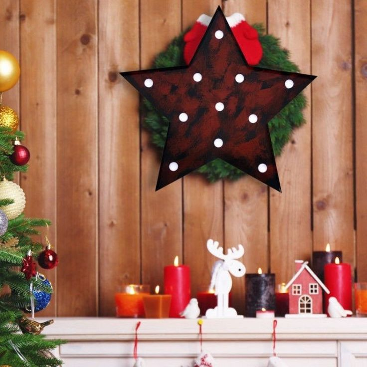 Advent Christmas Ornament Xmass Winter Decoration Lamp LED Five Point Star Light #AdventChristmasOrnament