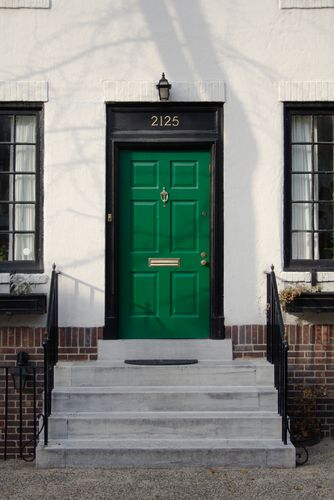 I kind of want to repaint our doors green as of late. Maybe when we re-side the house? Or, uh, BUY A NEW ONE.