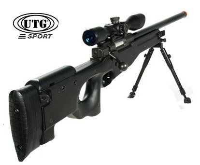 UTG Shadow Ops Black Bolt Action Airsoft Rifle $139.95
