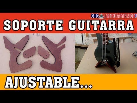 "Soporte para Guitarra-Bajo Ajustable ""Adjustable guitar mount"" - YouTube"