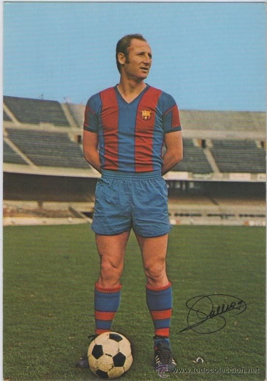 """Gallego"" Francisco Fernández, born 4 March 1944, Spanish defender or centre back, FC Barcelona (1965-1975).  Gallego played for FC Barcelona 248 games with 17 goals."