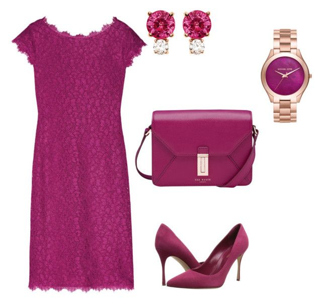 """Red, red, wine"" by jennifer-geiss on Polyvore featuring Diane Von Furstenberg, Ted Baker, Sergio Rossi, Jemma Wynne and Michael Kors"