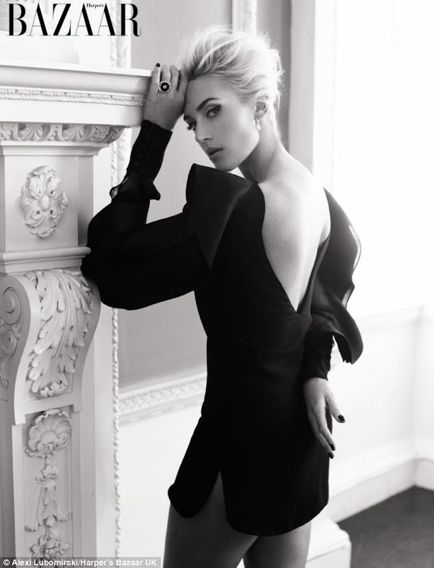 Kate Winslet appears on the cover of the new issue of Harper's Bazaar
